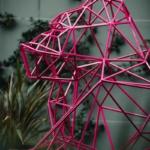 gorille rose origami